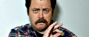 Nick Offerman – Funny Interviews and Manly Advice (Video)