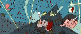 Insane Psychedelic Snowball Fight From Adult Swim's Superjail! (Video)